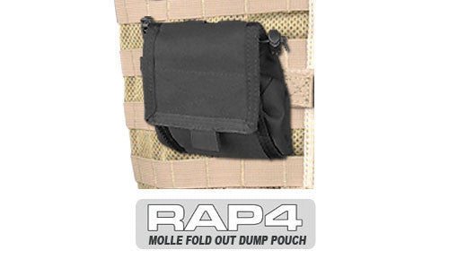 BLACK Fold Out Dump Pouch - Punishers Paintball