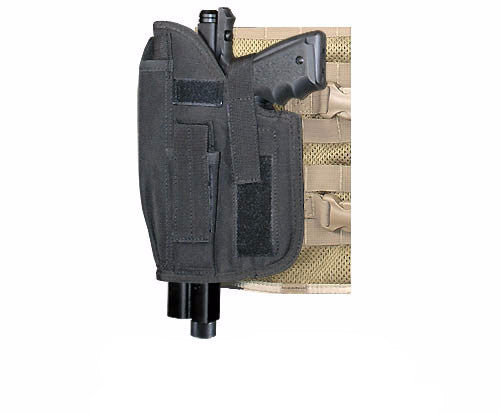 BLACK Cross Draw Holster Left Hand Large - Punishers Paintball