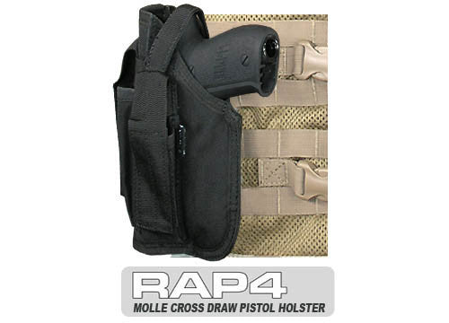 BLACK Cross Draw Holster Left Hand Small - Punishers Paintball