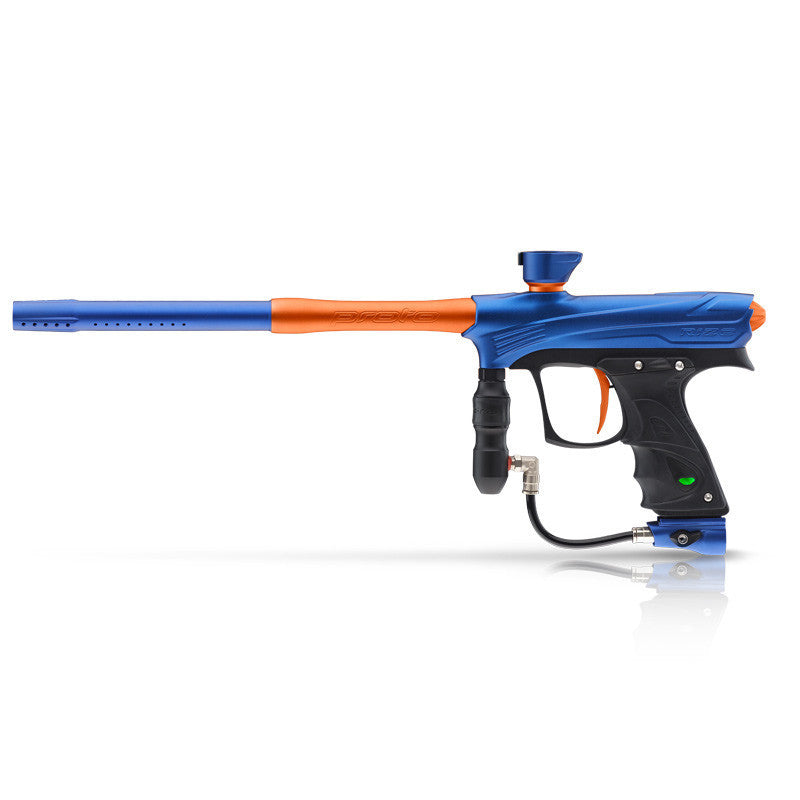 DYE Rize Maxxed Paintball Gun - Blue with Orange