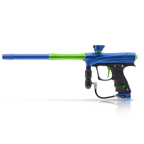 DYE Rize Maxxed Paintball Gun - Blue with Lime