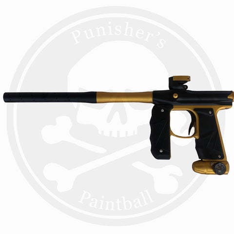 Empire Paintball Mini GS Marker w/ 2 Piece Barrel - Dust Black/Gold