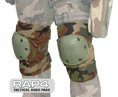 BLACK Night Crawler Tactical Knee Pads - Punishers Paintball