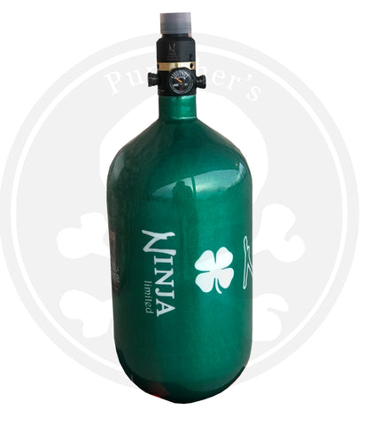 Ninja SL2 68/4500 Paintball Tank - St. Patty's Day Lucky Irish Green LE
