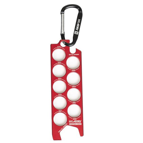 Paintball Sizer Guide - Red