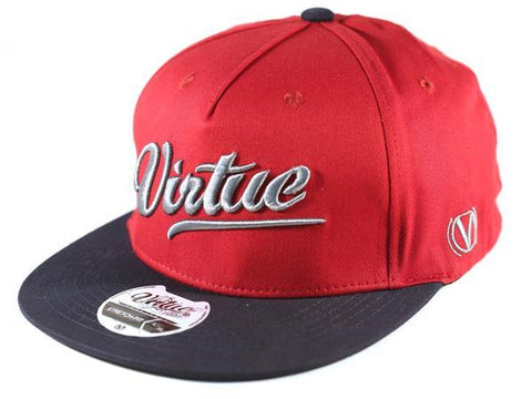 Virtue Patriot All Star Fitted Hat - Red / Silver / Navy Blue