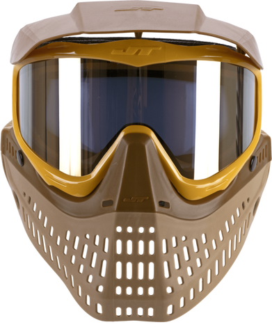 JT Proflex LE Paintball Mask - Brown/Tan/Gold w/ Gold Thermal Lens