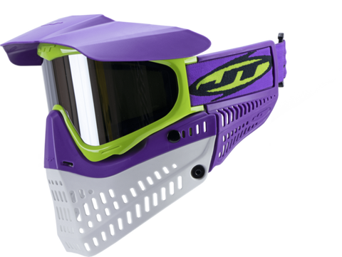 JT Proflex LE Paintball Mask - Purple/Lime/White w/ Chrome Thermal Lens