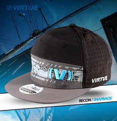 Virtue Recon Snapback Hat - Gray / Black / Cyan