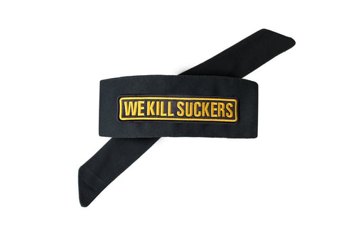 BNKR Kings Royal Tie Paintball Headband - WE KILL SUCKERS Patch