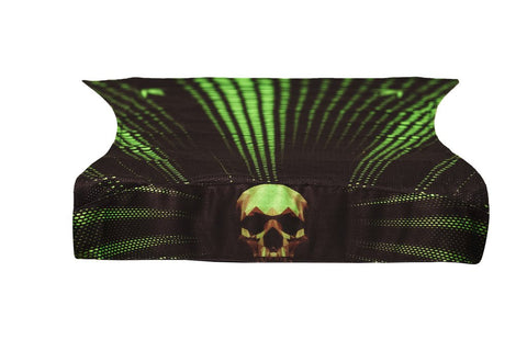 BNKR Bunkerkings Royal Paintball Head Wrap - Skull Lime