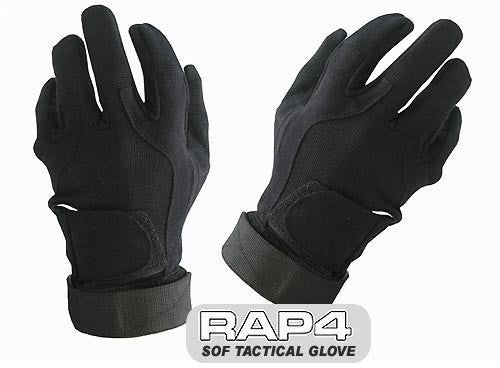 BLACK SOF Tactical Glove (Full Finger) - Punishers Paintball