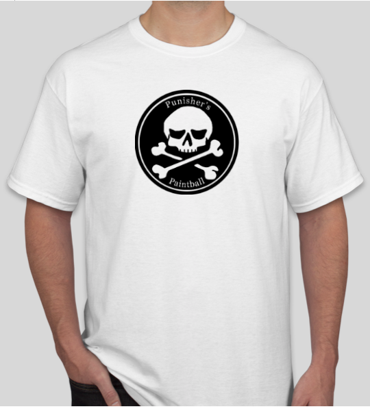 """Punisher's Paintball"" Logo T-Shirt - White"