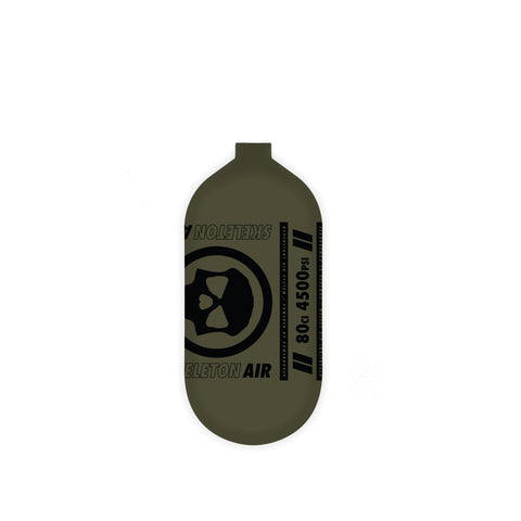 INFAMOUS AIR Hyperlight Paintball Tank - BOTTLE ONLY - Olive/Black - 80CI / 4500PSI