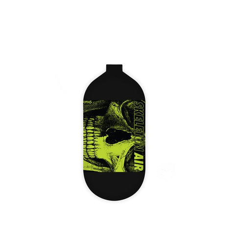 "INFAMOUS AIR Hyperlight ""Savage Skull"" Paintball Tank - BOTTLE ONLY - Black/Volt - 80CI / 4500PSI"