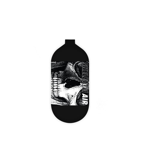 "INFAMOUS AIR Hyperlight ""Savage Skull"" Paintball Tank - BOTTLE ONLY - Black/White - 80CI / 4500PSI"