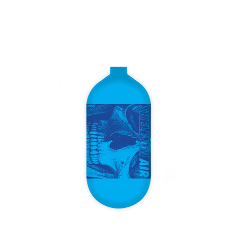 "INFAMOUS AIR Hyperlight ""Savage Skull"" Paintball Tank - BOTTLE ONLY - Blue/Blue - 80CI / 4500PSI"