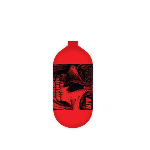 "INFAMOUS AIR Hyperlight ""Savage Skull"" Paintball Tank - BOTTLE ONLY - Red/Black - 80CI / 4500PSI"