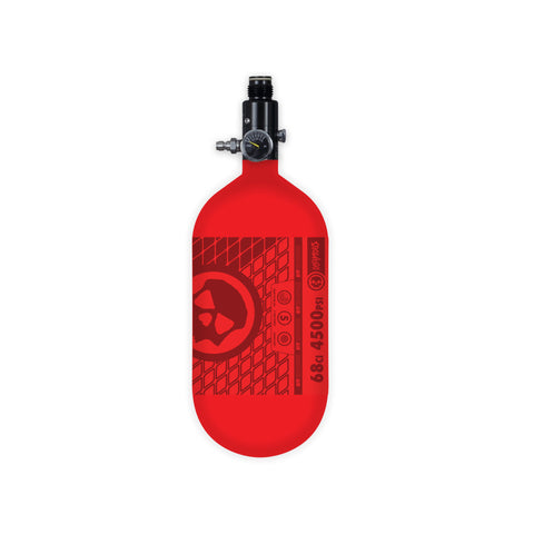 INFAMOUS AIR TANK W/ STANDARD REG - AIR PATTERN - 68CI / 4500PSI - Red/Red