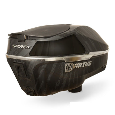 Virtue Spire 4 (IV) Paintball Loader - Graphic Black Chrome