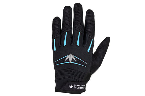 BNKR Bunkerkings Supreme Paintball Gloves - Cyan