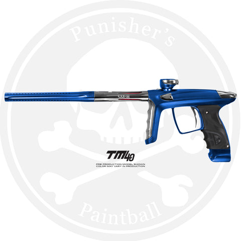 DLX Luxe TM40 Paintball Gun - Dust Blue/Polished Silver