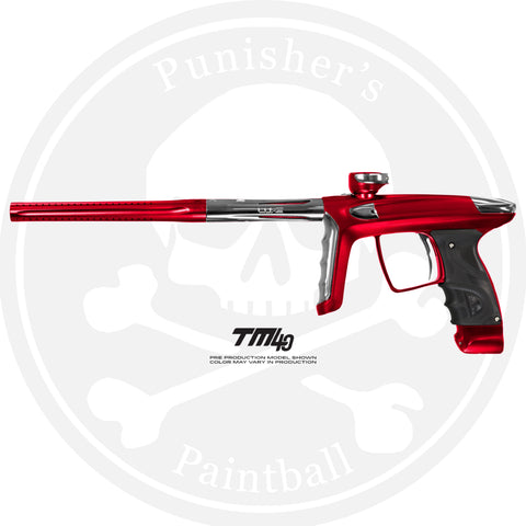 DLX Luxe TM40 Paintball Gun - Dust Red/Polished Silver
