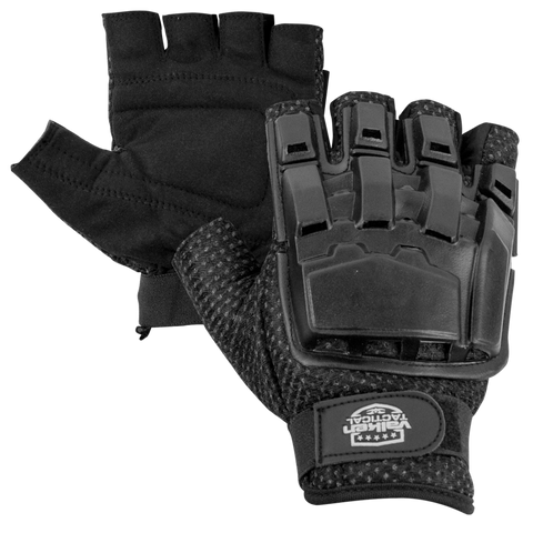 Valken 1/2 Finger Tactical Gloves- Black