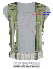 BLACK MOLLE Tactical Vest - Punishers Paintball
