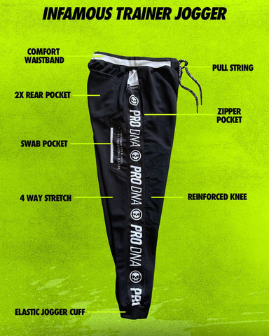 Infamous Trainer Jogger Paintball Pants - Infamous Black - Small