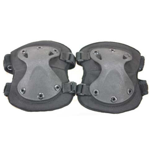 BLACK Spartan Knee Pads - Punishers Paintball