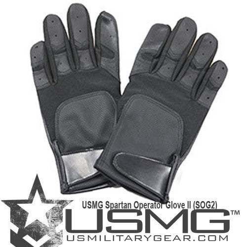BLACK Spartan Operator Glove - Punishers Paintball