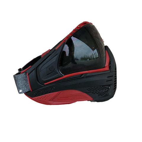 Push Unite Paintball Goggle - Red Out w/ Red Camo Strap