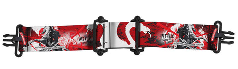 Virtue Vio Goggle Strap - Dragon Slayer White Black Red