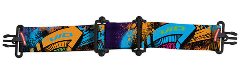 Virtue VIO Goggle Strap - Graffiti VIO Orange Purple Cyan
