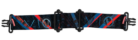 Virtue VIO Goggle Strap - Skull Punk Blue Red