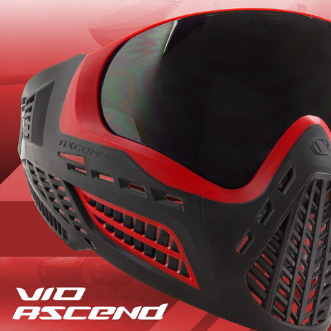 Limited Edition Virtue Vio Ascend Paintball Mask - Red Smoke