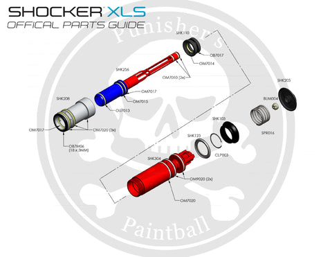 SP Shocker XLS Bolt System Parts List - Pick the Part You Need!
