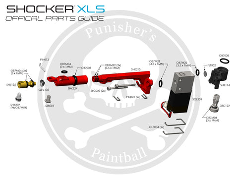 SP Shocker XLS Solenoid Parts List - Pick the Part You Need!