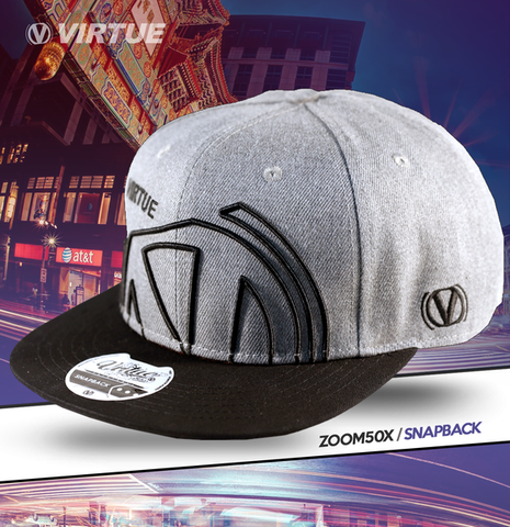 Virtue Zoom50X Snapback Hat - Gray / Black