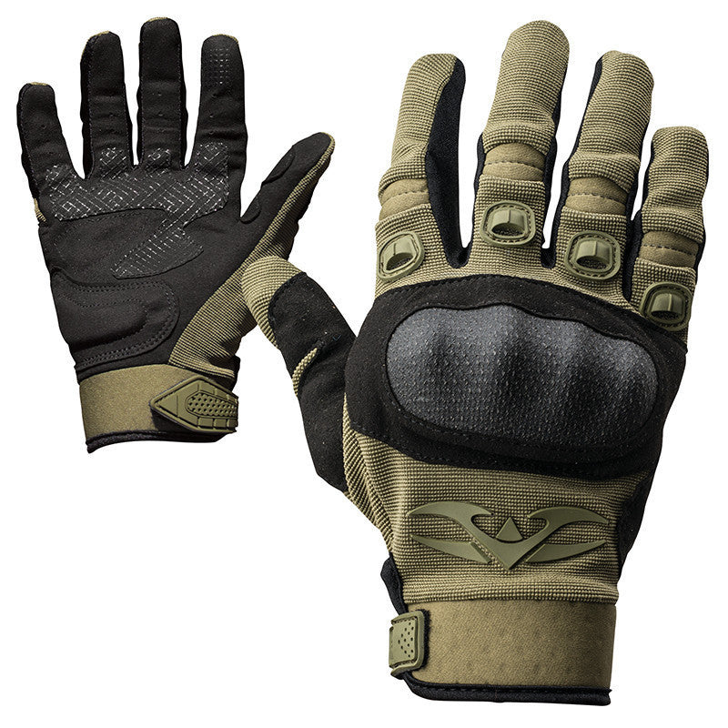 Gloves - Valken Zulu Tactical - Olive - Punishers Paintball