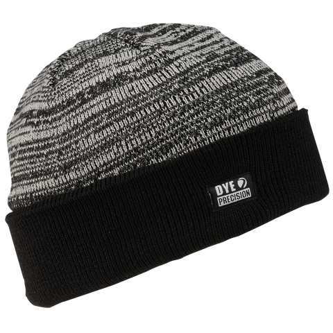 Dye Beanie   Shredded Heather Black
