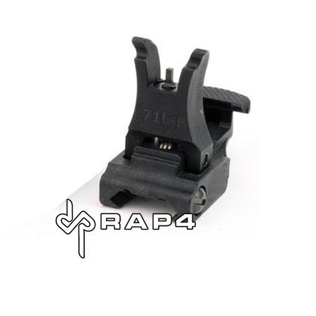 Black Tactical Flip Up Sights (Front) - Punishers Paintball