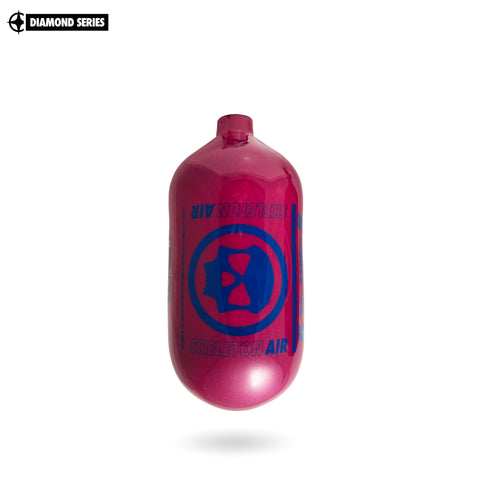 "Infamous Skeleton Air ""Hyperlight"" Paintball Tank BOTTLE ONLY - Diamond Series - Bubblegum - 80/4500 PSI"
