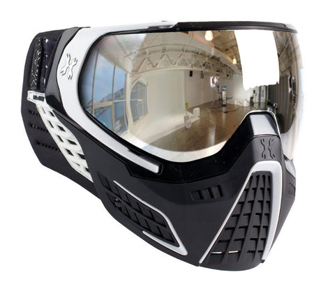 HK Army KLR Goggle Carbon (Black/White - Chrome Lens)