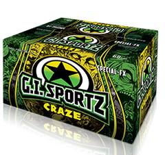 GI Sportz Craze Glow In The Dark .50 Cal Paintballs - Case of 4000