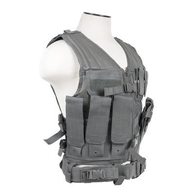 NCStar Tactical Vest - Urban Grey - Punishers Paintball
