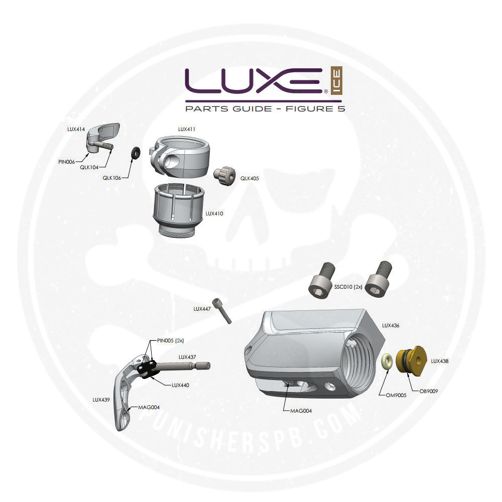 DLX Luxe Ice Feedtube ASA System Parts List   Pick The Part You Need!
