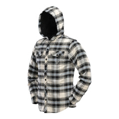 Hooded Flannel   Blue   Tan   punisherspb.myshopify.com