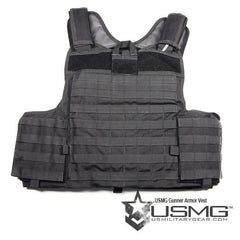 BLACK Gunner Plate Carrier - Punishers Paintball